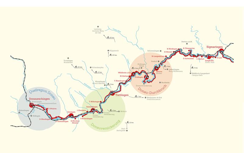 Donauradweg Ulm Passau Karte.Donauradweg Donaubergland
