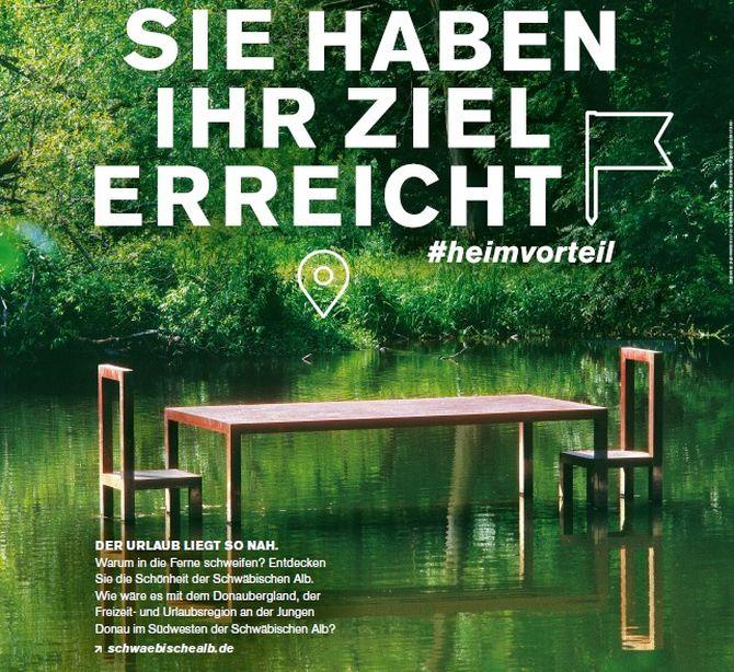 Plakat #Heimvorteil - Sie haben Ihr Ziel erreicht Schwäbische Alb 2020