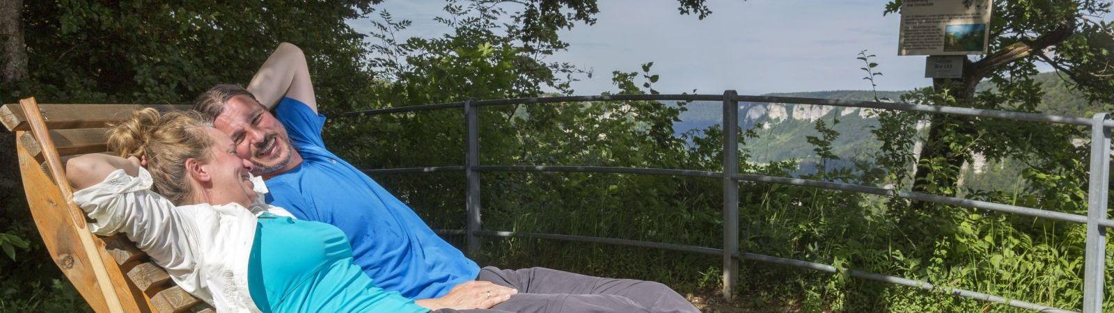 Auszeit auf dem DonauWellen-Premiumweg Eichfelsen-Panorama