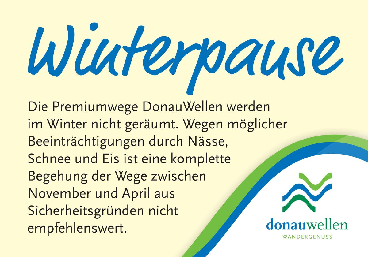 donauwellen - winterpause- schild