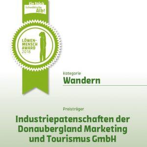 Urkunde Löwenmensch-Award Schwäbische Alb