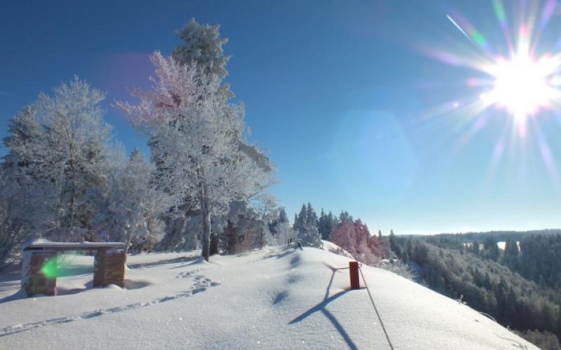 winterlandschaft auf dem heuberg auf der schwäbische alb