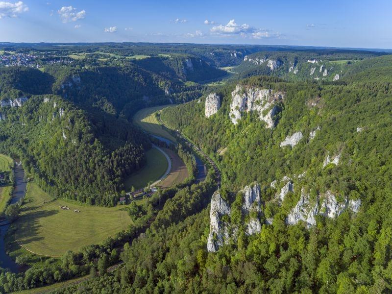 Blick ins Obere Donautal